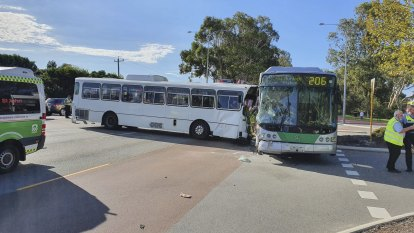 School students injured in Canning Vale bus crash