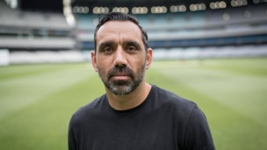 Adam Goodes from the documentary The Australian Dream, written by Stan Grant.
