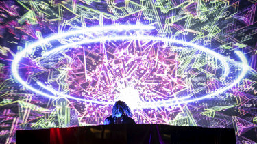 Flying Lotus 3D performing at Mona Foma 2020