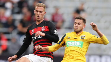 Tass Mourdoukoutas (left) is set to start for the Wanderers on Monday