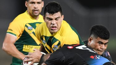 Case to answer: David Fifita playing against Fiji for the PM's XIII.