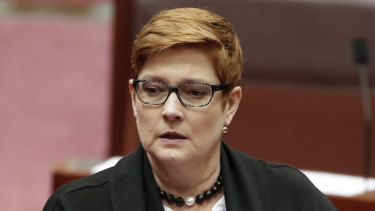 Foreign Minister Marise Payne said the unrest in Hong Kong was no reason at this point to halt a free trade agreement.