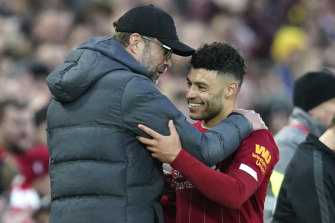 Alex Oxlade-Chamberlain broke the deadlock for Liverpool.