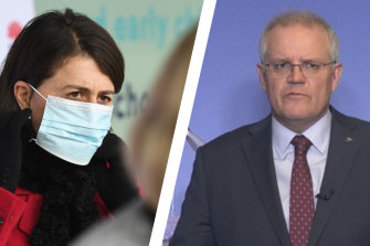 NSW Premier Gladys Berejiklian and Prime Minister Scott Morrison are expected to announce a rescue package for Sydney businesses as early as Tuesday.
