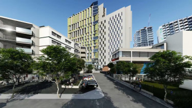 An artist's impression of the student accommodation plan at The Block.