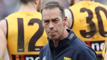Calls to make: Hawthorn coach Alastair Clarkson.