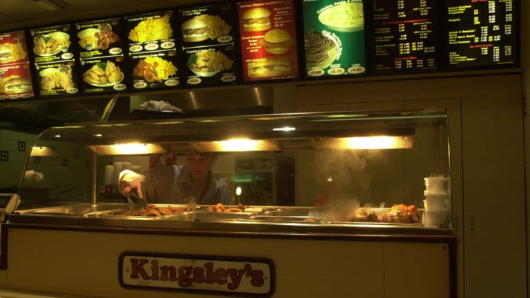 The Queanbeyan Kingsley's Chicken store in 2000.