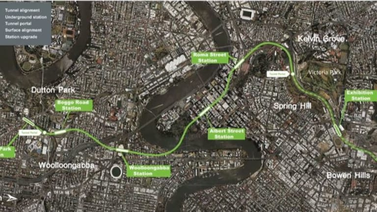 The proposed Cross River Rail underground route.