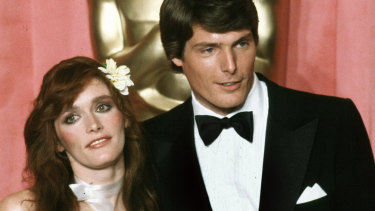 Margot Kidder with Superman co-star Christopher Reeve in 1979.