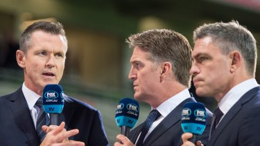 The highly-regarded Nick McArdle, left, fronted Fox Sports' rugby programming for 13 years.
