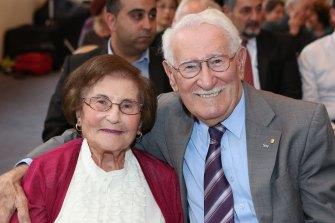 Flore and Eddie Jaku in 2014.