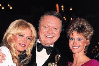 Brit Ekland, Bert Newton and Olivia Newton-John for the TV Week Logie Awards, 2003.
