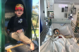 Holly Armstrong said Noah's behavior has changed to scared and not wanting to walk out of fear of pain. He is typically funny, outgoing and loves superheroes.