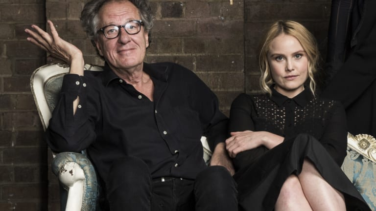 Geoffrey Rush and Eryn Jean Norvill photographed at the Sydney Theatre Company ahead of the King Lear production.