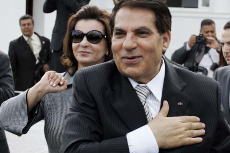 Tunisian dictator Zine al-Abidine Ben Ali and his equally feared wife Leila Trabelsi.