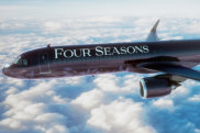 Designs for new Four Seasons private jet. Airbus A321LRneo aircraft, will be able to accommodate 48 guests.