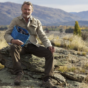 Sam Neill at Two Paddocks. He hopes wine, not movies, will be his legacy.