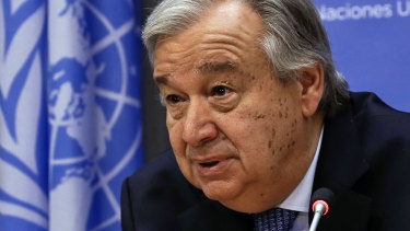 Extremism warning: UN Secretary-General Antonio Guterres.