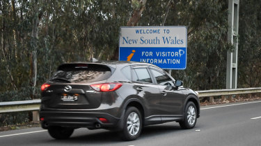 The NSW/Victoria border was closed from 11.59pm on January 1.