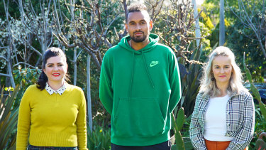 "Tennis ""bad boy"" Nick Kyrgios (centre) is the subject of Reputation Rehab, presented by Zoe Norton Lodge (left) and Kirsten Drysdale."