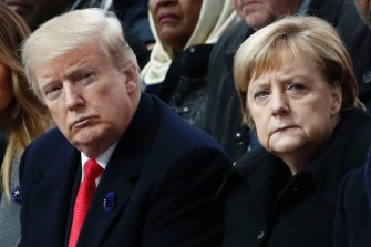 US President Donald Trump and German Chancellor Angela Merkel.