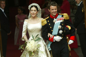 The happy day: Mary from Tassie marries Prince Frederik in 2004.