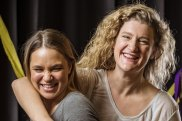 Virginia Gay and Tuuli Narkle play Cyrano and Roxanne in the MTC's production of Gay's gender-flipped take on the legendary play.