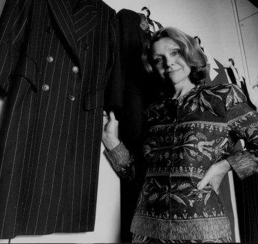 Carla Zampatti di toko kotanya pada tahun 1992.