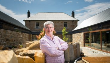 Economist Saul Eslake at his new home at Acton Park near Hobart.