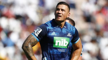 Turning point: Sonny Bill Williams had a big impact off the bench.