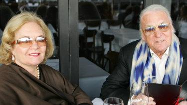 Caroline and John Laws in Wolloomooloo in 2007.