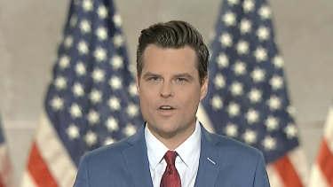 Matt Gaetz during the first night of the 2020 Republican National Convention.