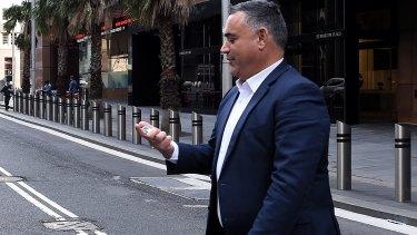 Mind your step, Deputy Premier ... John Barilaro on Friday.