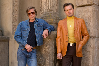 Brad Pitt and Leonardo DiCaprio star in Once Upon a Time In Hollywood.