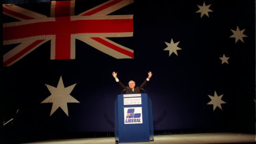 Sold . . . Mr Howard announces the plan at the Liberals' national convention in Brisbane on March 15, 1998