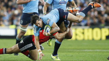 Prodigal Tah: Adam Ashley-Cooper playing for NSW back in 2014.