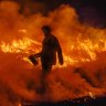 Strong winds bring 'severe' risk for scorched state as 40 fires burn