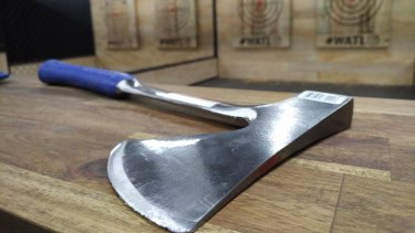 The axes are solid steel and perfect for sinking into wooden targets - or slaying zombies.