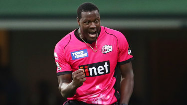 Carlos Brathwaite is lining up for his second season with the Sydney Sixers.