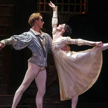 Hallberg and Natalia Osipova performing in the American Ballet Theatre's production of 'Romeo and Juliet' in New York  in 2012, before he suffered the foot injury that threatened his career.
