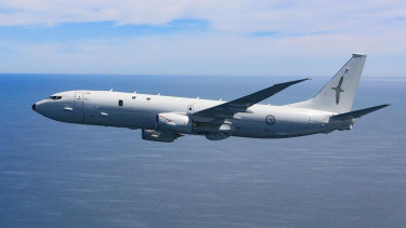 A US-made P-8A Poseidon surveillance plane