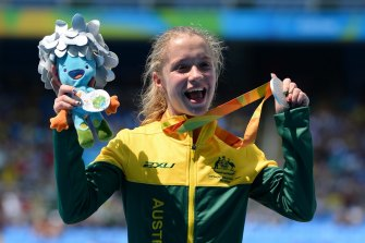 Isis Holt won a silver medal in the women's 100m T35 final at the Rio Paralympics.