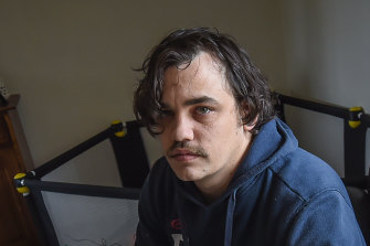 Temporary worker Sam Melville is facing financial strife.