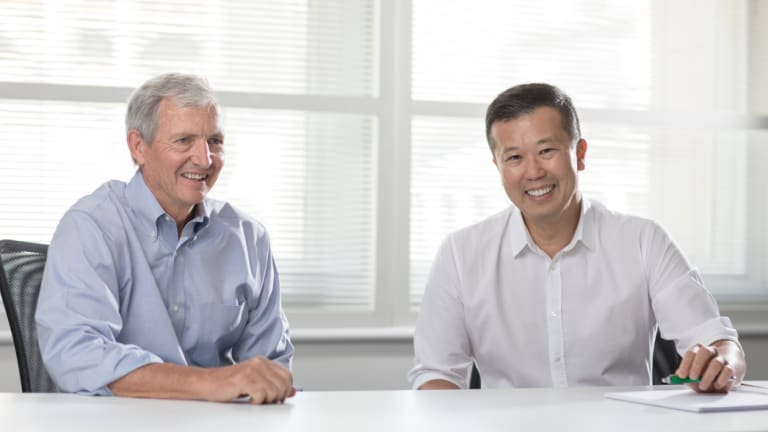 Change of leaders: Jack Truong (right) wil take over from CEO Louis Gries (left) next year.