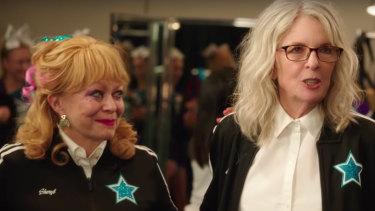 Women in a retirement community form a cheerleading squad: Jacki Weaver and Diane Keaton in Poms.