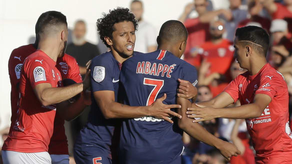 Mbappe scores then sees red in action-packed PSG win