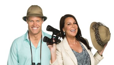 I'm A Celebrity, Get Me Out Of Here hosts Dr Chris Brown and Julia Morris.