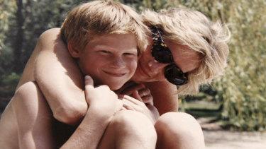 Princess Diana and Harry.