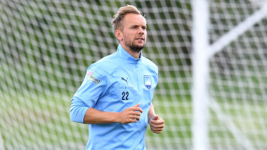 Sidelined: Siem de Jong has been out of action for Sydney FC since the end of January.