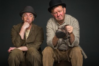 Shaun Micallef and Francis Greenslade in <i>Waiting for Godot</i> for MTC in 2017.